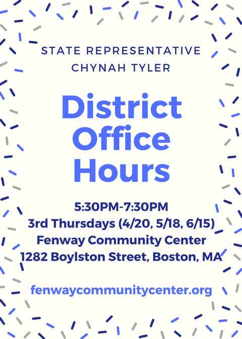 Rep. Chynah Tyler District 7 FENWAY Office Hours